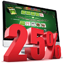 Poker Strategy - Playing 25%